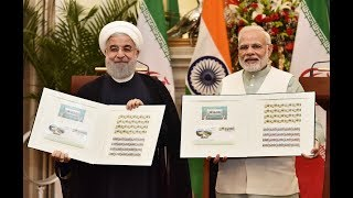 PM Narendra Modi at joint press statement with President of Iran Hassan Rouhani