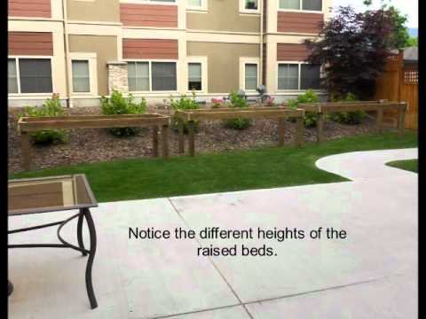 wheelchair accessible raised plant beds barrier free YouTube