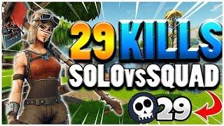29 KILLS SOLO vs SQUAD par Lepaysancorse42 - Fortnite Battle Royale