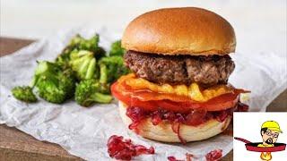 Crispy Cheddar Frico Burger