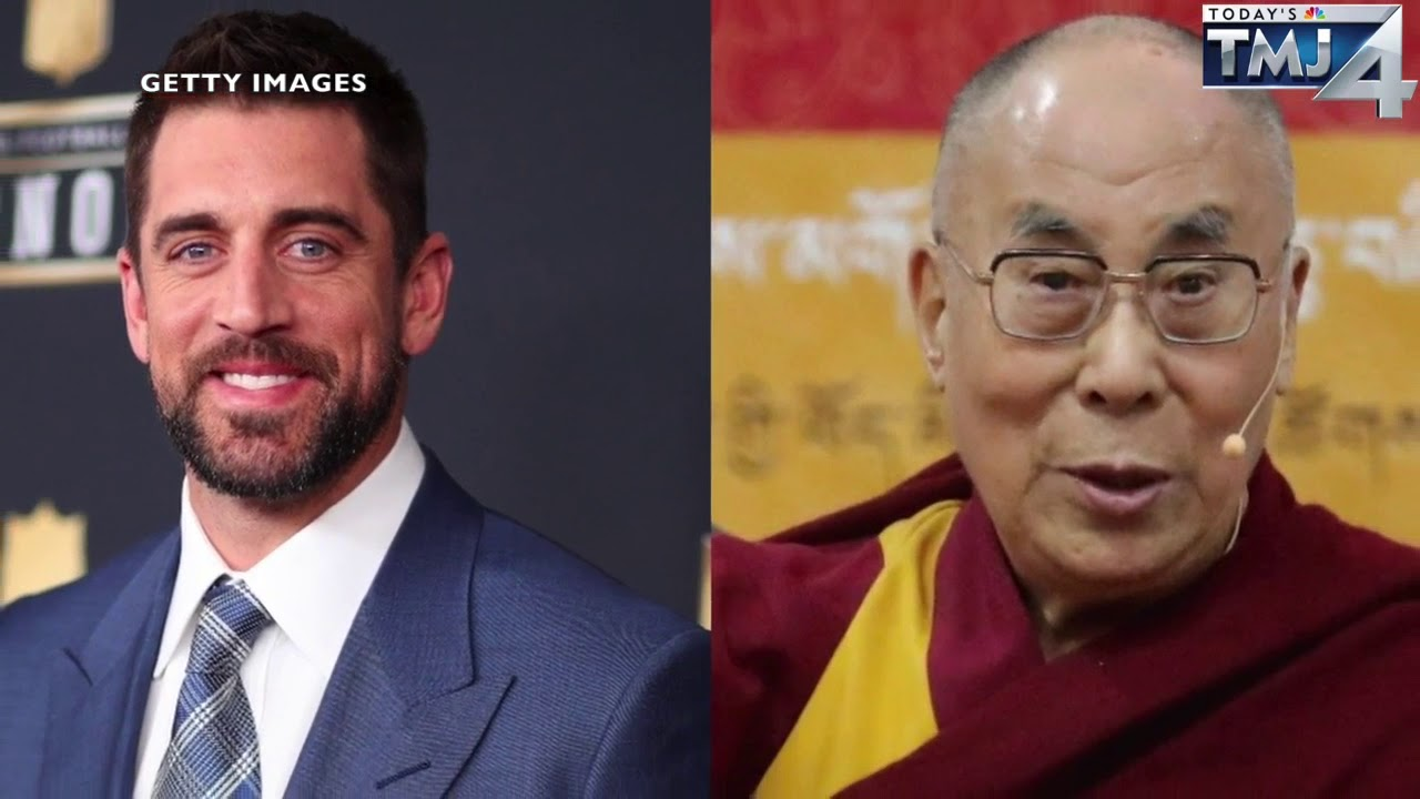 Aaron Rodgers meets the Dalai Lama