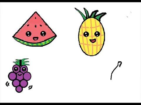 dibujo de frutas animadas youtube