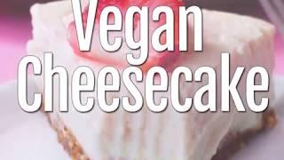 Vegan Cheesecake Recipe - NO Cashews!