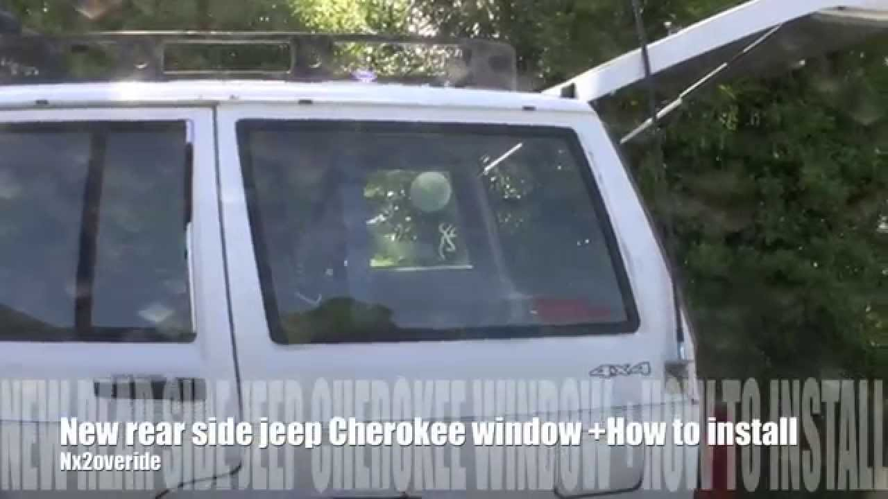 small resolution of new rear side jeep cherokee window how to install