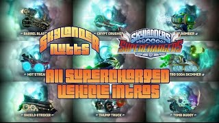All SuperCharged Vehicle Intros for Skylanders SuperChargers (Including Variants)