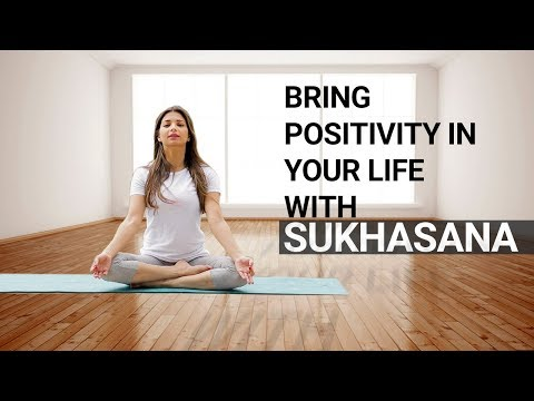 Calm Down In 3 Minutes With Sukhasana | Easiest Yoga Pose | Fit Tak