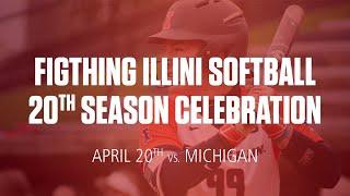 Illini Softball | 20th Season Celebration Save The Date