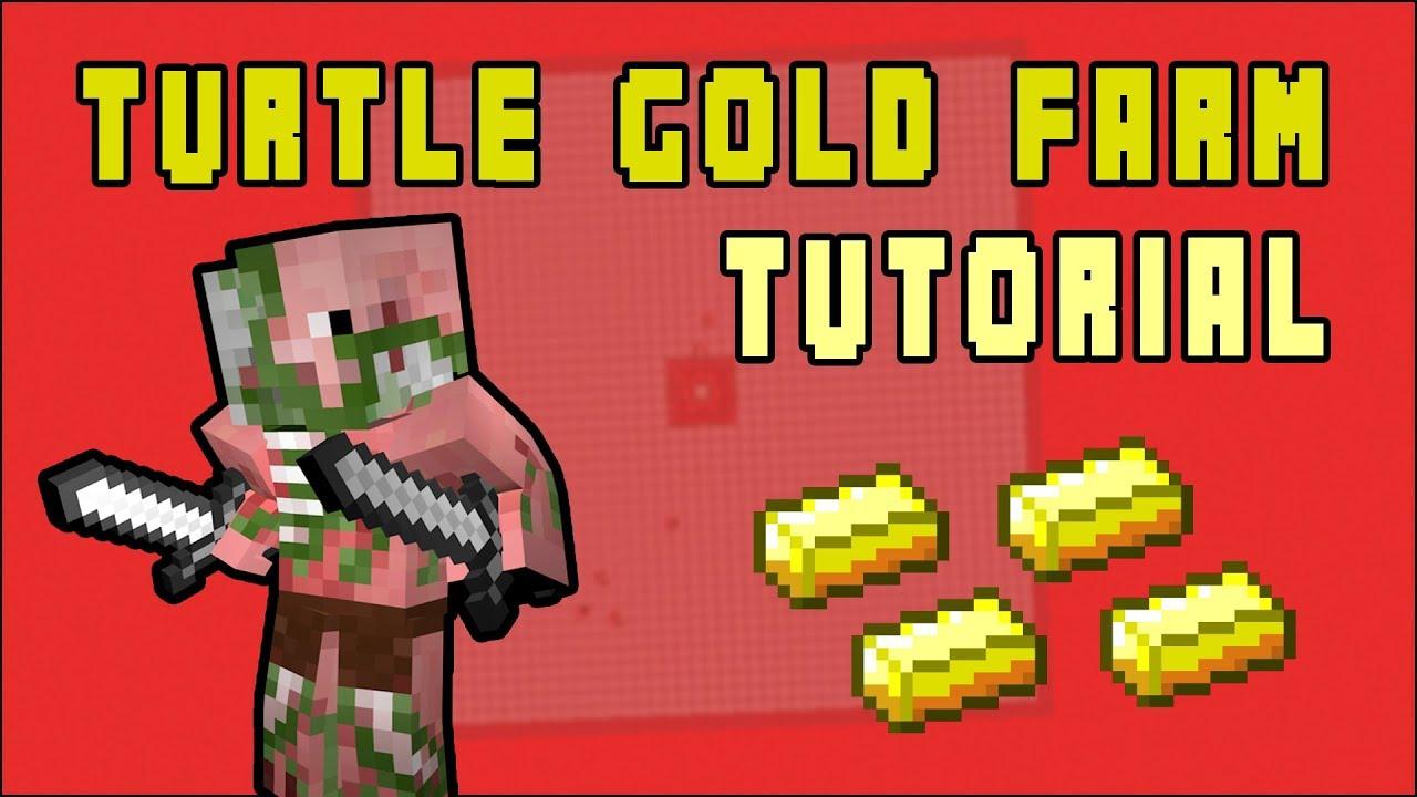 Minecraft: Turtle Egg Gold Farm 11.111 (Fast Tutorial)