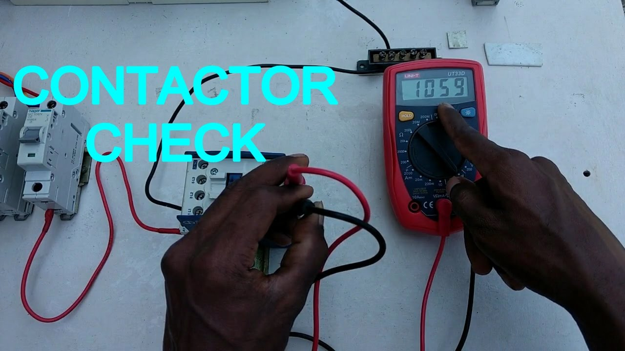 how to check contactor , how to check electrical contactor - in ...