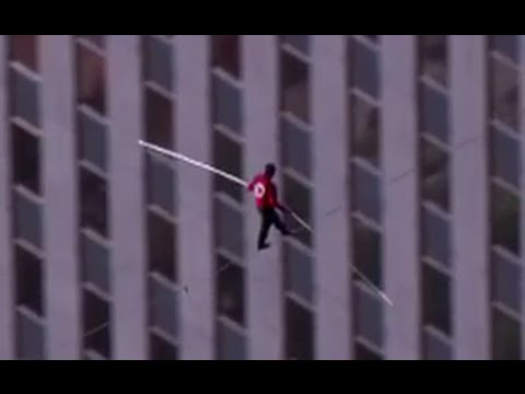 Flying Wallendas Hurt After Falling Ft During Rehearsal For - Nik wallendas epic blindfolded skyscraper tightrope walk