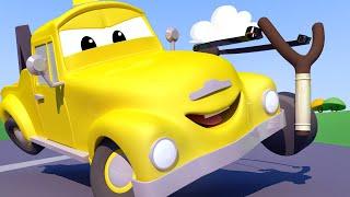малыши в Автомобильном Городе - Стрельба из РОГАТКИ - детский мультфильм