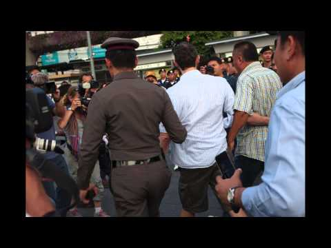 Bangkok (Thailand) 29-05-2014 - A belgian citizen arrested by police at Victory Monument