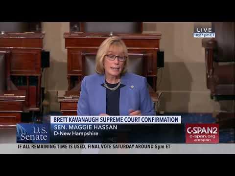 Senator Hassan on Senate Floor: The American People Deserve Better than Judge Kavanaugh