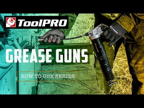 How To Use Grease Guns - YouTube