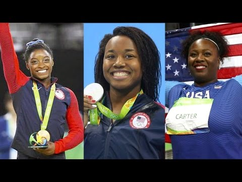 African-American Women Make Olympic History by Winning Gold in Swimming, Gymnastics & Shot Put