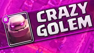 EPIC LIVE GAMEPLAY  ::  Clash Royale  :: THE GOLEM IS INSANE!