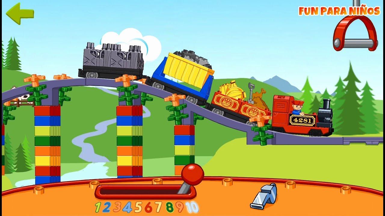 Lego Duplo Train Juego De Trenes Para Ninos Pequenos Gratis Youtube