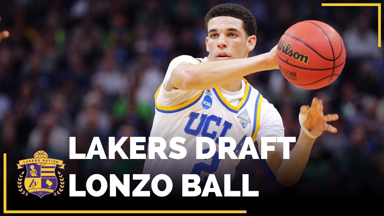 Lakers take ex-UCLA point guard Lonzo Ball with No. 2 pick in draft