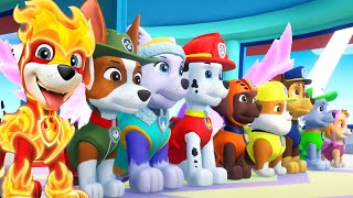 PAW Patrol Mighty Pups Save Adventure Bay - Pups Chase, Everest Super Heroic Rescue Mission Nick Jr
