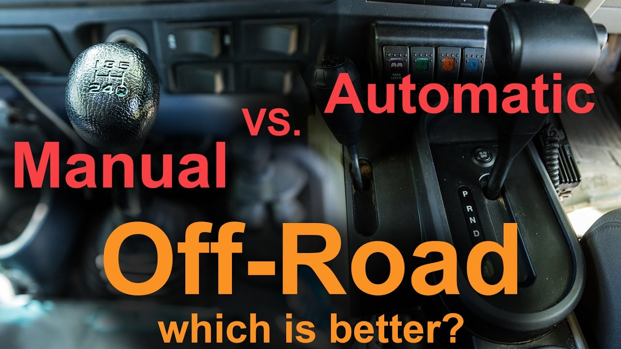 manual vs automatic off road youtube rh youtube com jeep wrangler automatic vs manual transmission jeep wrangler automatic vs manual transmission