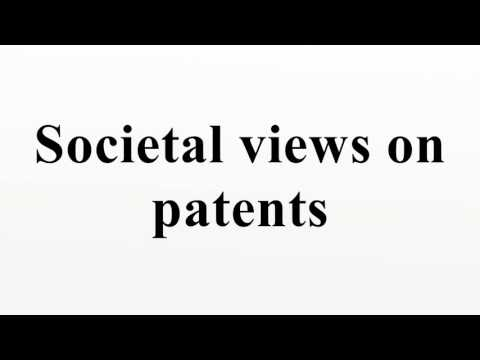 Societal views on patents
