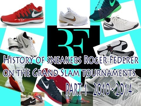 ROGER FEDERER-HISTORY OF SNEAKERS ON THE GRAND SLAM TOURNAMENTS PART 1 (2010-2014)