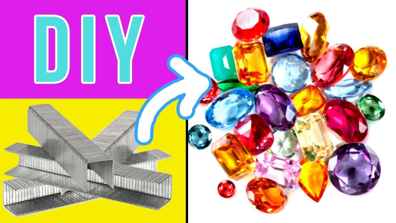 Haz joyas usando grapas. DIY fácil