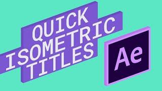 Erstellen Sie ganz Einfach Isometrische Titel in After Effects - Tutorial - (Plugin -)