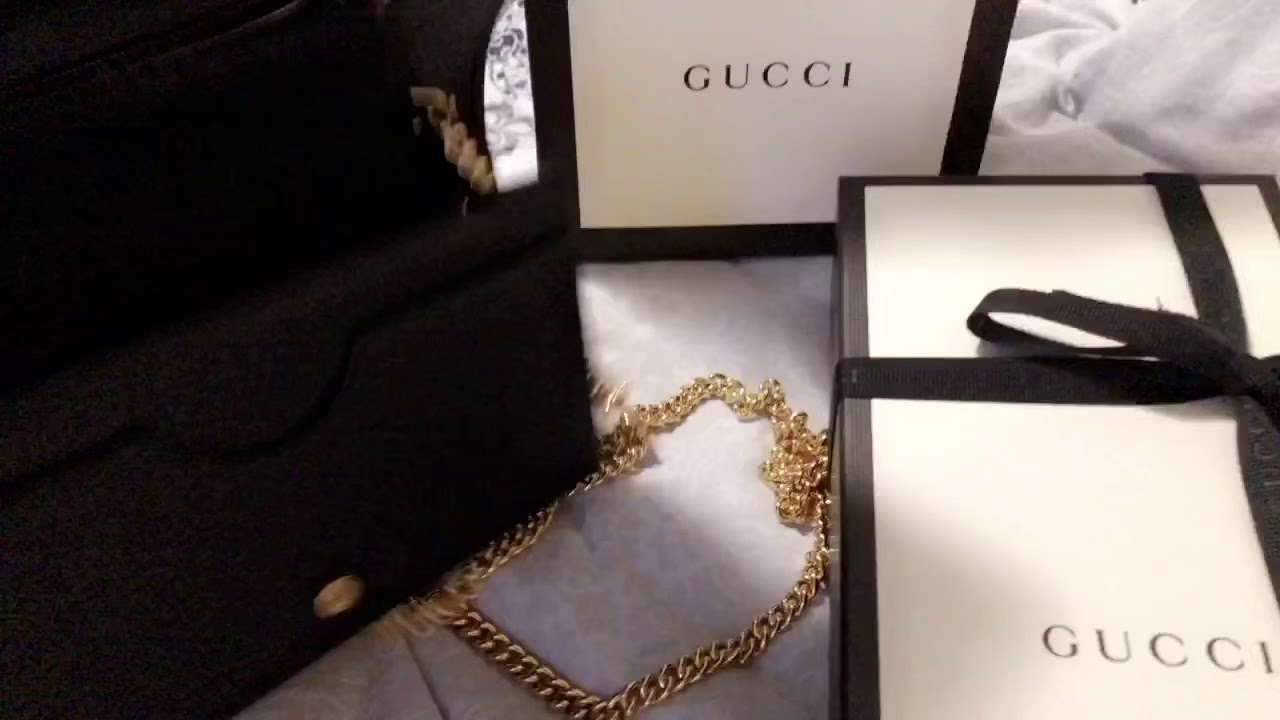 3e0528cd75c2 Gucci Marmont leather mini chain bag - YouTube