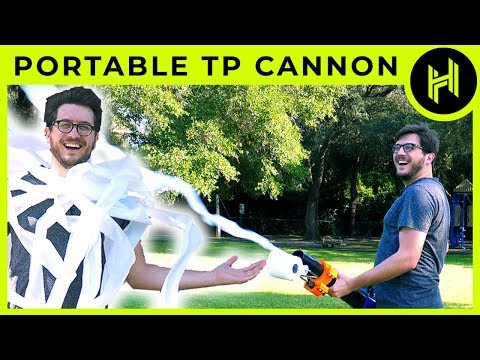 Toilet Paper Cannon Science Demo // 3D Printing DIY