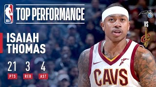 Isaiah Thomas Leads All Scorers With 21 Points in a Victory Over Orlando | January 18, 2018