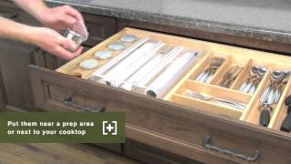 Schuler Cabinetry: Glass And Stainless Steel Containers (spice Drawer), Kitchen Storage Part 24