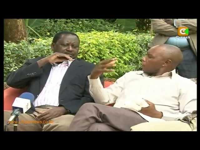 Odinga Visits Maina Njenga