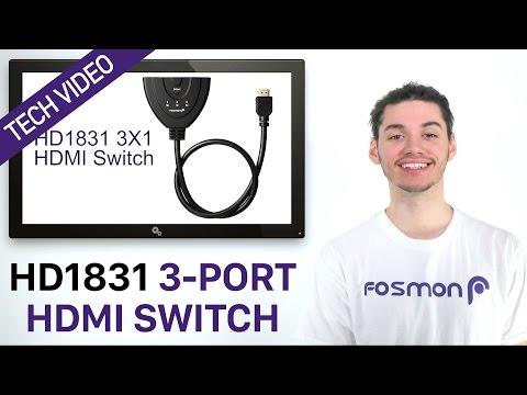 Fosmon HD1831 3-Port HDMI Switch Tech Video