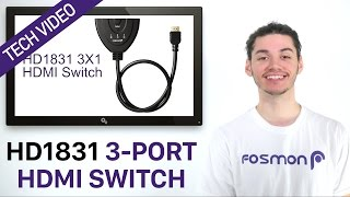 Fosmon HD1831 3-Port HDMI Switch Tech Video