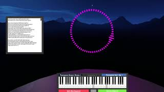 Faded by Alan Walker on virtual piano (roblox)
