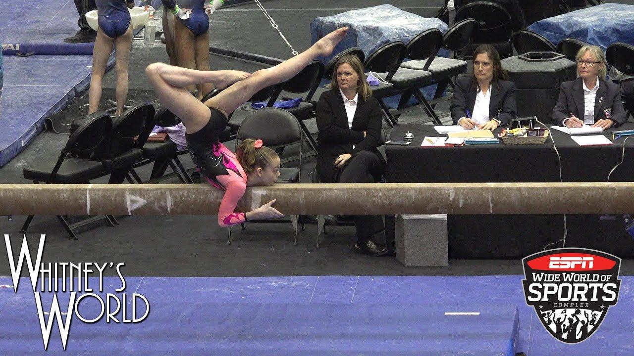 Whitney Bjerken 2nd Level 9 Gymnastics Meet Sand Dollar Whitlow