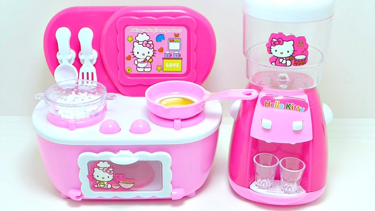 Hello Kitty Kitchen Stove Cooking Toy Play Set For Kids Youtube