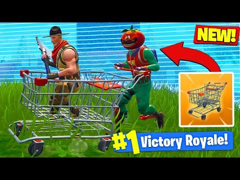 *NEW* SHOPPING CART GAMEPLAY In Fortnite Battle Royale!