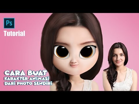 Cara Buat Karakter Animasi 3D Foto Sendiri #Part 01   TUTORIAL PHOTOSHOP   Like DAVE XP