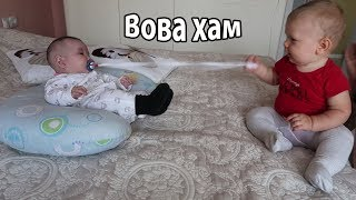 VLOG: Вова забрал соску у девочки  / Убрала весь дом за 30 мин