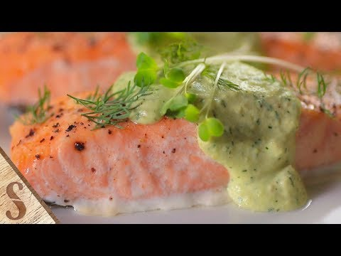 How to Make Baked Salmon With Avocado Dill Yoghurt | Slice