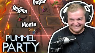 😳😱Pummel Party mit STREAMER Kollegen! | Pummel Party mit @SpontanaBlack, @Real Regina &@Papaplatte