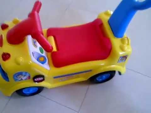 Little People School Bus Ride-On—Yellow - YouTube