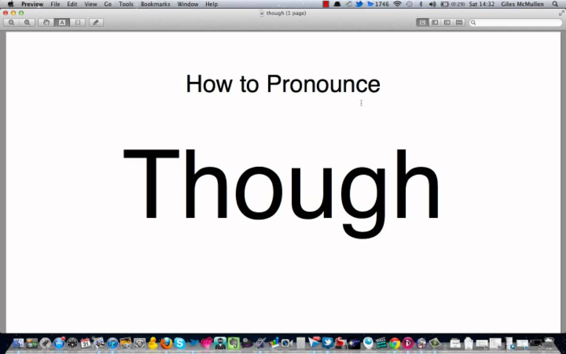 How to pronounce though