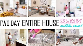 NEW *TWO DAY* ENTIRE HOUSE CLEAN WITH ME // CLEANING MOTIVATION // Jessica Tull cleaning
