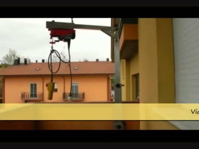 Overhead bridge airone il montaggio for Montacarichi per la spesa