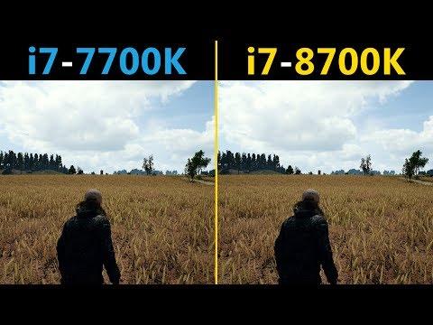 PUBG I7-7700K Vs. I7-8700K (Competitive Graphics Settings)