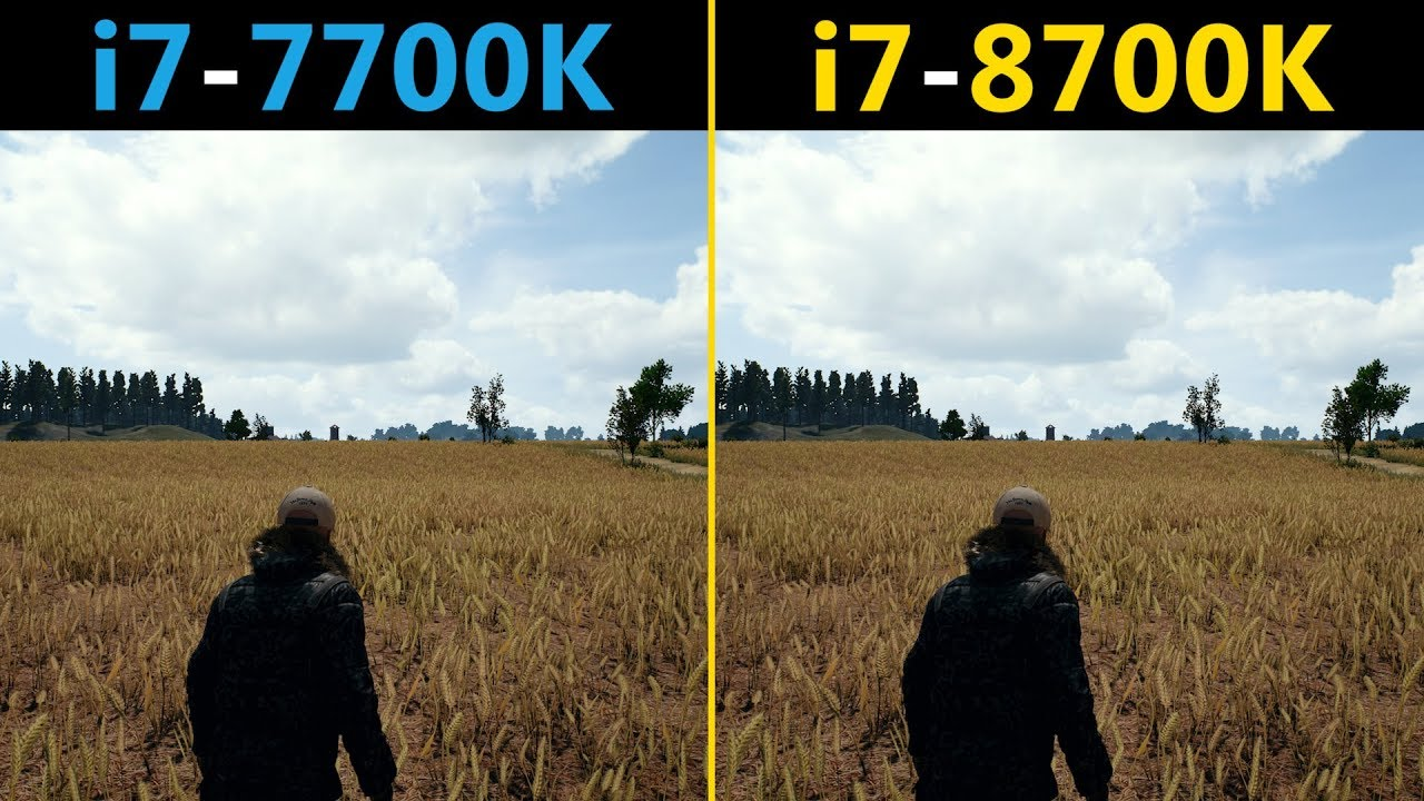 Pubg With Intel Hd Graphics: PUBG I7-7700K Vs. I7-8700K (Competitive Graphics Settings