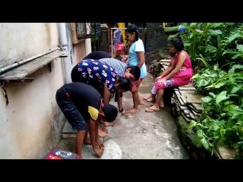 Shaila tuition teacher acting by her students RAHUL ,madhushree, DIKSHA,  with cameraman kaveri